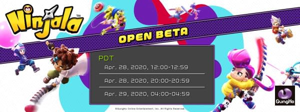 The official times for the April open beta, courtesy of GungHo Online Entertainment.