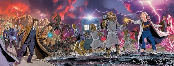 Christopher Jones' Connecting Covers For Doctor Who Comics #1-4