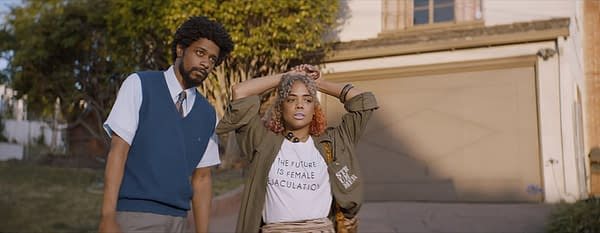 Sorry To Bother You Lakeith Stanfield and Tessa Thompson