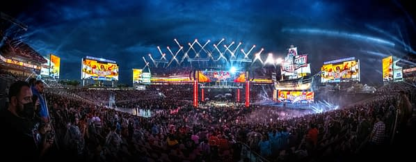 WrestleMania 37 Attendance: You can verify WWE's claim if you can count every person in this photo. [Photo credit: WWE]