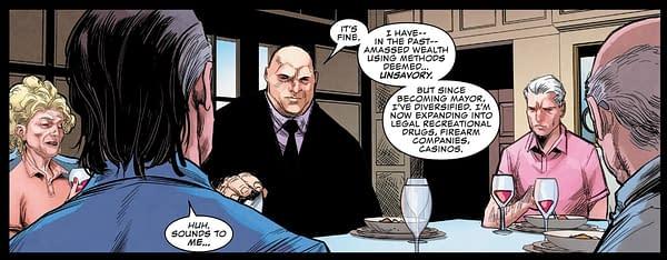 Kingpin Moves Into Legal Cannabis in Daredevil #12