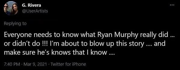 Glee Co-Creator Ryan Murphy Responds to Naya Rivera Accusations