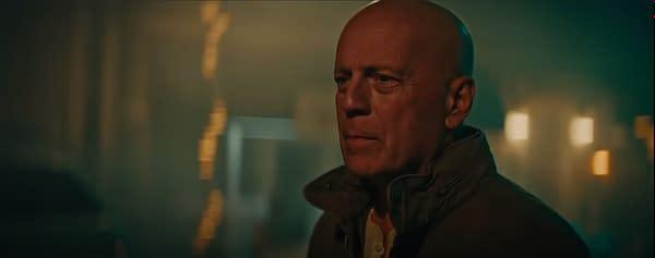 Die Hard Reunion Stars Bruce Willis as John McLane in Car Battery Ad