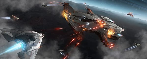 Ship combat is one of the big improvements to Star Citizen's latest update, courtesy of Cloud Imperium Games.