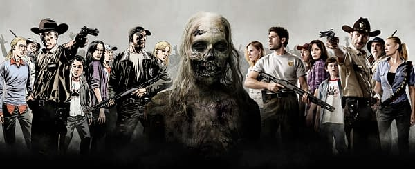 Comic Con Banner - The Walking Dead - Season 1 - Photo Credit: Matthew Welch / AMC