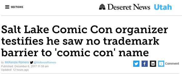 Salt Lake Comic Con's Trademark Battle with San Diego Comic Con Uncovers Conflicts of Interest In Utah