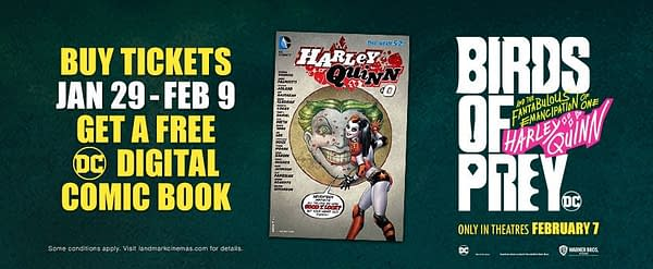 DC To Advertise and Give Away Harley Quinn Comics in Cinemas