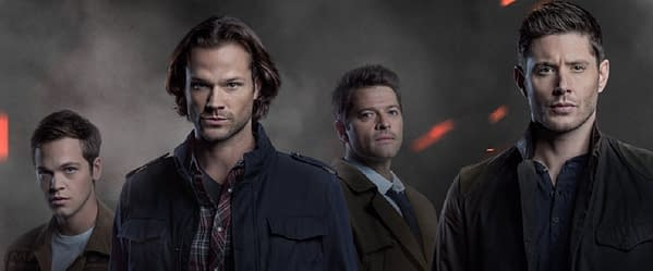 New key art for Supernatural Season 15 (Image: The CW)