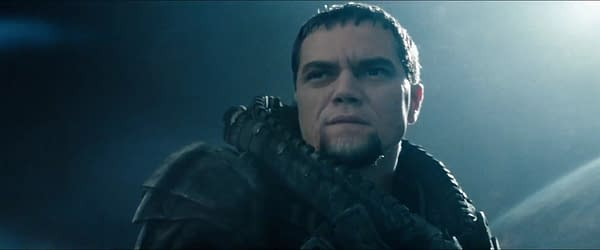 Michael Shannon as General Zod in Man of Steel (2013). Image courtesy of Waner Bros