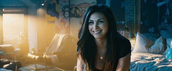 Morena Baccarin as Vanessa in Deadpool 2 (2018). Image courtesy of 20th Century Studios