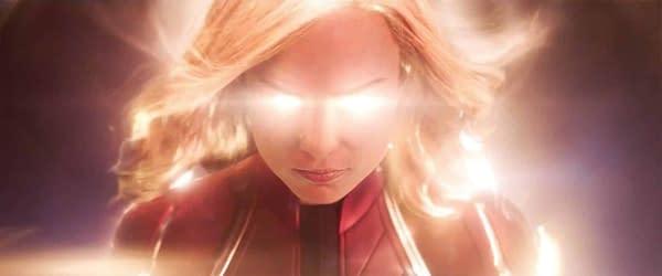 Brie Larsen as Captain Marvel. Image courtesy of Marvel Studios