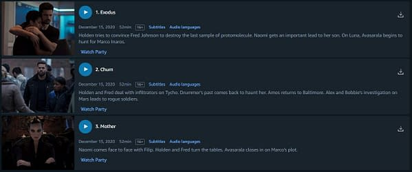 The Expanse is already live on Amazon Prime (Image: screencap)