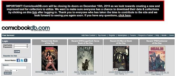 ComicbookDB.com Closing December – But Will Return, New and Improved
