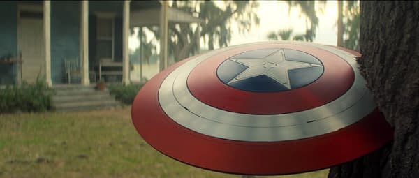 The passing of the shield and leads to The Falcon and the Winter Soldier (Image: Disney+)