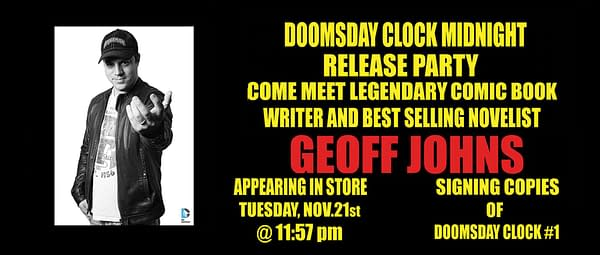 Geoff Johns Is Leaving The Country For The Release Of Doomsday Clock
