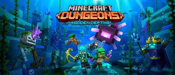 Under da sea! Under da sea! What can you build, and fight away, under da sea? Courtesy of Mojang.