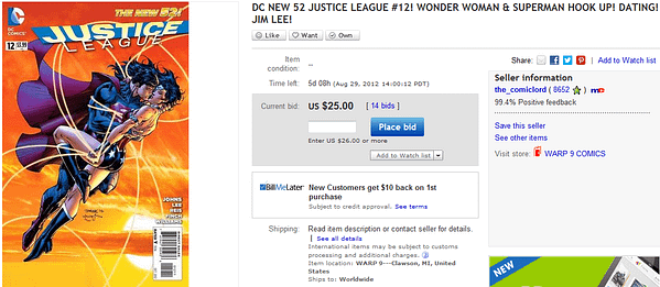 Justice League #12 Already Getting Bids Of $25