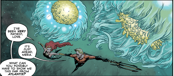 Aquaman Annual #1 art by Max Fiumara and Dave Stewart