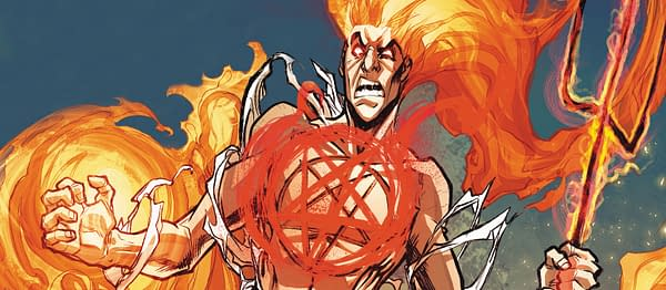 Daimon Hellstrom fights both internal and external demons, courtesy of Marvel Comics.