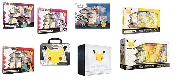Celebrations products. Credit: Pokémon TCG