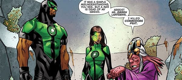 Green Lanterns #37 art by Carlo Barberi and Ulises Arreola
