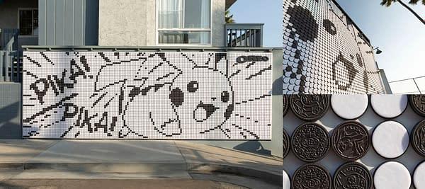 Pikachu art installment. Credit: OREO