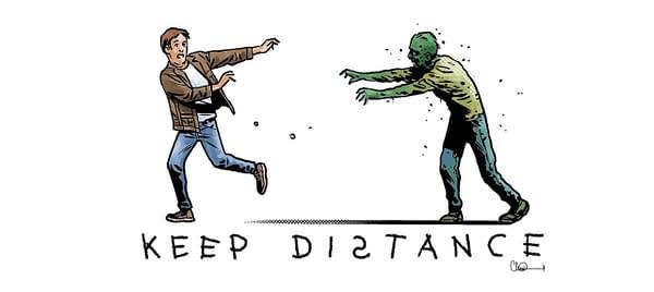 The Walking Dead's Charlie Adlard Draws Zombie PSA for Covid-19