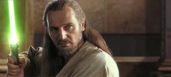 Star Wars Actor Liam Neeson Defends Phantom Menace, Defends Ahmed Best