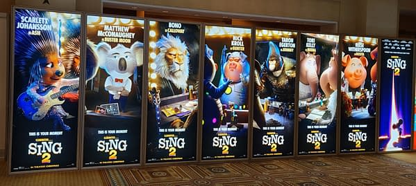 CinemaCon: New Sing 2 Posters On Display At Event