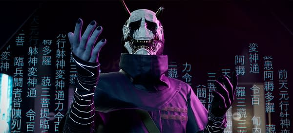A better look at Hannya in Ghostwire: Tokyo, courtesy of Bethesda Softworks.