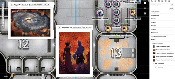 Another screenshot from Burn Bryte, Roll20's upcoming original game, showcasing some of the handouts for players from the Game Master.