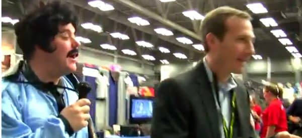 Gareb Shamus Pursued Across Convention Floor To Get Wizard Magazine Subscription Answers (VIDEO)