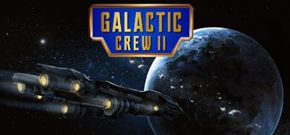 A promotional image for Galactic Crew II by indie developer Benjamin Rommel Games.