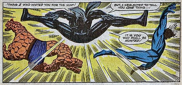 Black Panther from Fantastic Four #52 art by Jack Kirby and Joe Sinnott