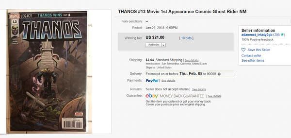 Thanos #13 Now a $20+ Comic, Goes to Third Printing