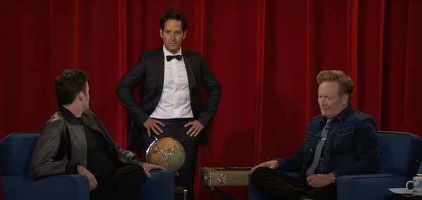 Paul Rudd Couldn't Let Conan O'Brien Leave Late Night Without A Gift