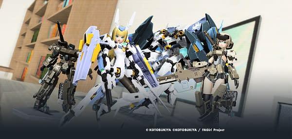 A look at Frame Arms and Frame Arms Girl in Phantasy Star Online 2, courtesy of SEGA/Kotobukita.