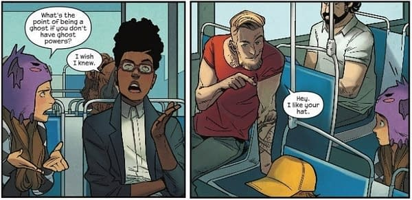 Dealing with Sexual Predators on a Bus in Runaways #19