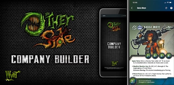 Promotional art for The Other Side, a wargame designed and developed by Wyrd Games. This game has just gotten a builder app for Android.