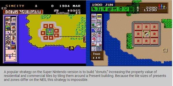 Video Games History Foundation Comparison NES and SNES versions of SimCity