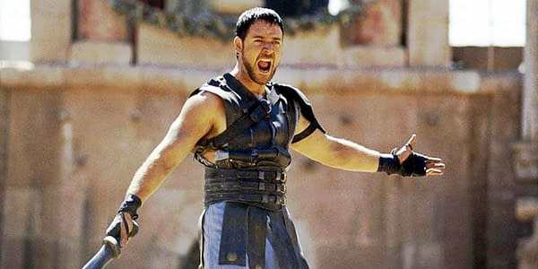 Russell Crowe in Gladiator (2000). Image courtesy of Universal Pictures