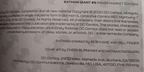 DC Comics Switches Walmart Giant Printing to LSC of Missouri.