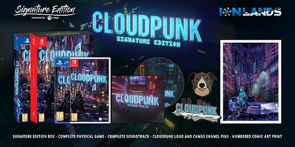 A look at the Cloudpunk Signature Edition, courtesy of Merge Games.