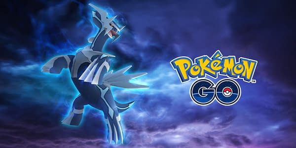 Promotional artwork for Dialga, who returns to Pokémon GO tomorrow for GO Fest 2020. Credit: Niantic.