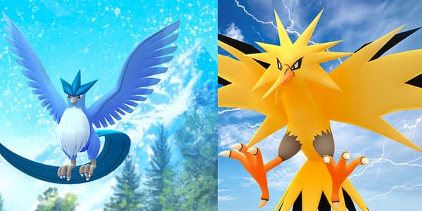 Zapdos, Articuno, and Cresselia Return to Pokémon GO in September. Credit: Niantic