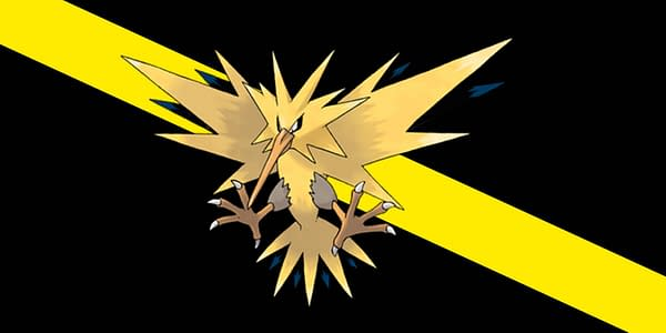 Zapdos is one of the Legendary Birds, an Electric/Flying-type Pokémon. Credit: The Pokémon Company.