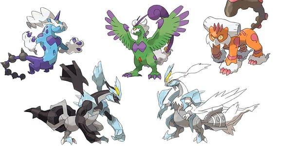 The Five Unreleased Unova Legendaries in Pokémon GO. Credit: The Pokémon Company
