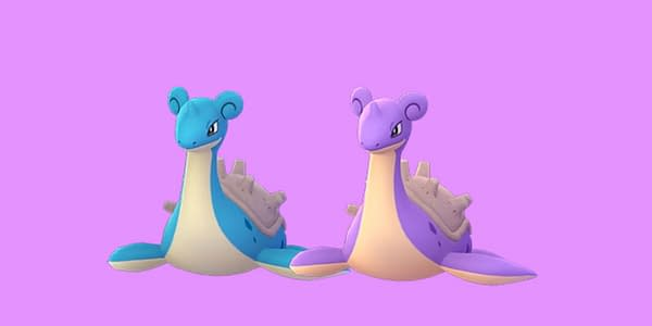 Shiny Lapras comparison in Pokémon GO, where this raid can now be completed by solo trainers. Credit: Niantic