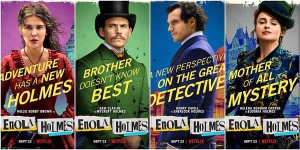 Enola Holmes Character Posters Debuts Ahead Of Next Week's Debut