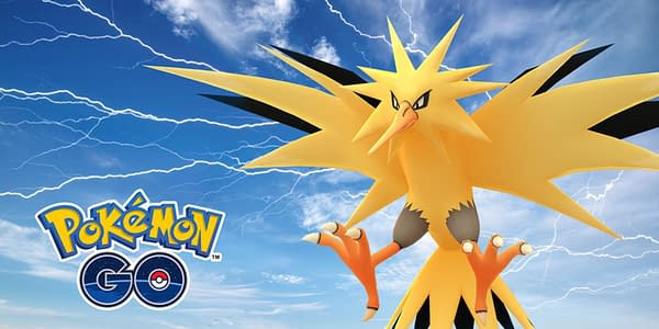 Promotional art for Zapdos, the second of the Legendary Birds in Pokémon GO. Credit: Niantic